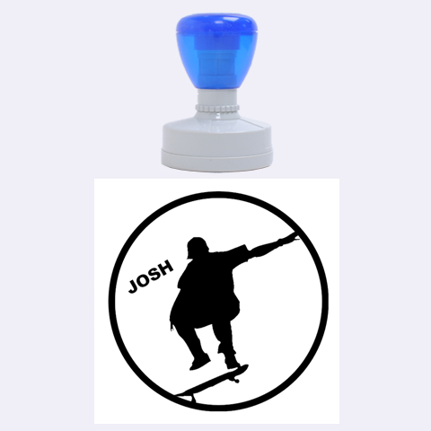 Skate/sports Rubber Stamp Round (l) By Mikki   Rubber Stamp Round (large)   Me1oa6tbho8g   Www Artscow Com 1.875 x1.875  Stamp