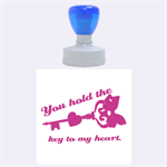 You hold the key to my heart-Rubber Stamp Round (L) - Rubber Stamp Round (Large)