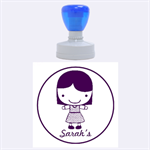 Girl -Rubber Stamp Round (L) - Rubber Stamp Round (Large)