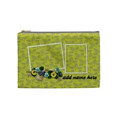 Cosmetic Bag (medium)  Flowers And Ribbon By Jennyl   Cosmetic Bag (medium)   Jgcmn1aqhmdl   Www Artscow Com Front