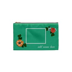 Cosmetic Bag (small)  Flower Blooms By Jennyl   Cosmetic Bag (small)   6ikr4hkofx8b   Www Artscow Com Front