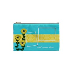 Cosmetic Bag (small)   Yellow Flowers By Jennyl   Cosmetic Bag (small)   0iegpk7hqbcj   Www Artscow Com Front