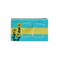 Cosmetic Bag (small)   Yellow Flowers By Jennyl   Cosmetic Bag (small)   0iegpk7hqbcj   Www Artscow Com Back