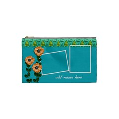 Cosmetic Bag (small)   Orange Flowers By Jennyl   Cosmetic Bag (small)   Lf1i1qaep0lm   Www Artscow Com Front