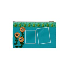 Cosmetic Bag (small)   Orange Flowers By Jennyl   Cosmetic Bag (small)   Lf1i1qaep0lm   Www Artscow Com Back