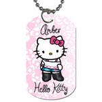 Amber Hello Kitty Necklace - Dog Tag (Two Sides)