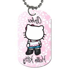 Amber Hello Kitty Necklace By Krystal   Dog Tag (two Sides)   Xbwskaxgigt3   Www Artscow Com Back