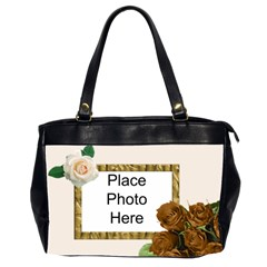 Roses Roses (2 Sided) Office Bag By Deborah   Oversize Office Handbag (2 Sides)   W34dsf5iyiie   Www Artscow Com Front