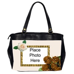 Roses Roses (2 Sided) Office Bag By Deborah   Oversize Office Handbag (2 Sides)   W34dsf5iyiie   Www Artscow Com Back