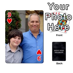 Dad By Christina   Playing Cards 54 Designs   Shte2ft50zpz   Www Artscow Com Front - Heart9