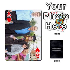 Ace Dad By Christina   Playing Cards 54 Designs   Shte2ft50zpz   Www Artscow Com Front - HeartA