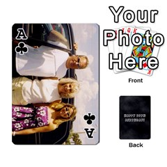 Ace Dad By Christina   Playing Cards 54 Designs   Shte2ft50zpz   Www Artscow Com Front - ClubA