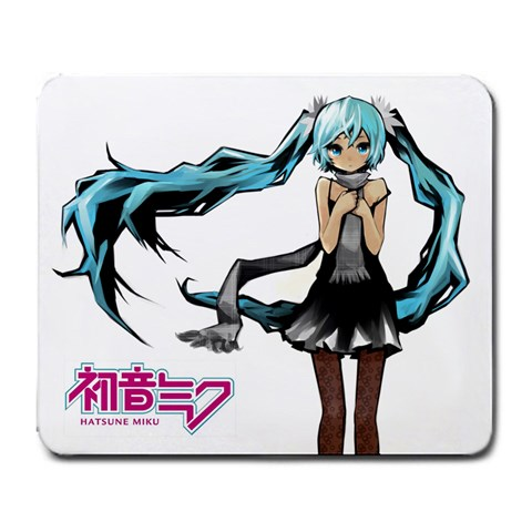 Hatsune Miku Snow By Rio   Large Mousepad   I1ni7gwjlspl   Www Artscow Com Front