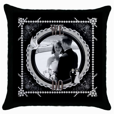 We Do Throw Pillow By Lil    Throw Pillow Case (black)   9la553ckagw6   Www Artscow Com Front