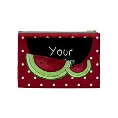 Watermelon Cosmetic Bag Medium By Lillyskite   Cosmetic Bag (medium)   4poro2quf389   Www Artscow Com Back