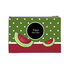 Watermelon Cosmetic Bag Large By Lillyskite   Cosmetic Bag (large)   Vvgsimj4fib2   Www Artscow Com Back