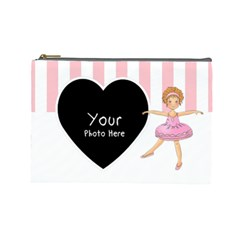 Ballerina Cosmetic Bag Large By Lillyskite   Cosmetic Bag (large)   Wmcywllljexa   Www Artscow Com Front