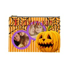 Halloween By Wood Johnson   Cosmetic Bag (large)   I4vpkpqv2sbz   Www Artscow Com Front