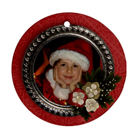 Christmas/holiday Ornament (round, 1 Side) By Mikki   Ornament (round)   0bli3p335g0u   Www Artscow Com Front