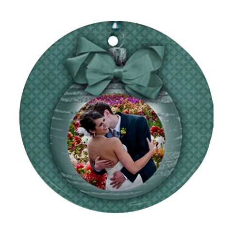 Christmas Ornament/blue Holiday Ornament (round, 1 Side) By Mikki   Ornament (round)   P092nb4nkuqw   Www Artscow Com Front