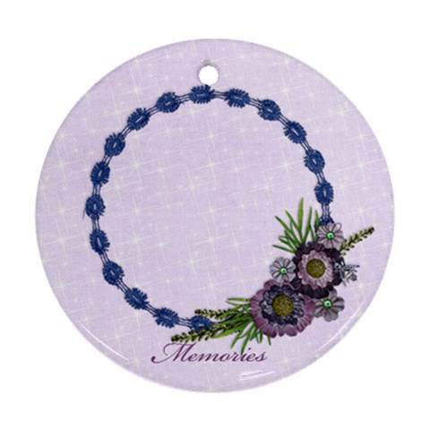 Purple/heal/girl Ornament (round, 1 Side) By Mikki   Ornament (round)   Xage5hnx95rm   Www Artscow Com Front