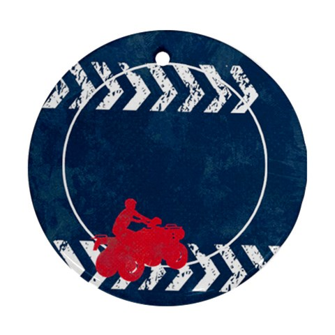 All Boy/atv/4 Wheeler Ornament (round, 1 Side) By Mikki   Ornament (round)   Kaw18zzljwz1   Www Artscow Com Front