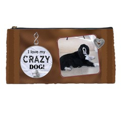 Crazy Dog Pencil Case By Lil    Pencil Case   4dh9t6mlgc0p   Www Artscow Com Front
