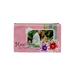 How Sweet And Love By Joely   Cosmetic Bag (small)   1vbqvd66687c   Www Artscow Com Back