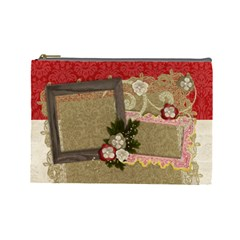Count Your Blessings/holiday Cosmetic Bag (large)  By Mikki   Cosmetic Bag (large)   P3g1t25pr80w   Www Artscow Com Front