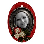 Christmas/blessings-ornament (oval, 1 side) - Ornament (Oval)
