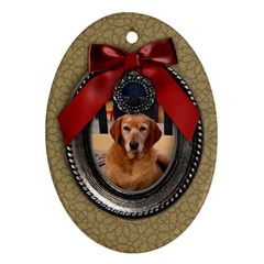 Christmas/blessings Ornament (oval, 2 Sides) By Mikki   Oval Ornament (two Sides)   6a46rrdefzyb   Www Artscow Com Front