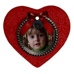 Christmas/wreath-ornament (heart, 1 side) - Ornament (Heart)
