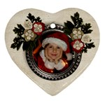 Christmas/flowers-ornament (heart, 2 sides) - Heart Ornament (Two Sides)