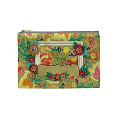 Shabby/floral/turtle  Cosmetic Bag (m)  By Mikki   Cosmetic Bag (medium)   R66ouwo0dd3w   Www Artscow Com Front