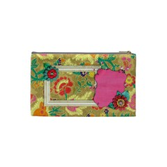 Shabby/floral Cosmetic Bag (s)  By Mikki   Cosmetic Bag (small)   2i4z5ddi2ij5   Www Artscow Com Back