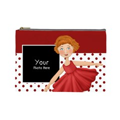 Cosmetic Bag Large Red And White By Lillyskite   Cosmetic Bag (large)   Tbx6npnn2s5r   Www Artscow Com Front
