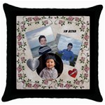 pillow for reva - Throw Pillow Case (Black)