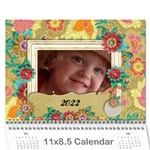 2015 Love/Family, turtle- 18 month photo calendar - Wall Calendar 11  x 8.5  (18 Months)