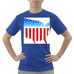Usa Flag Map Colored Mens'' T Shirt by level3101