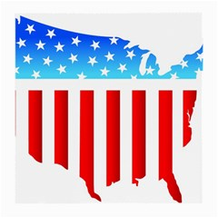 Usa Flag Map Single Sided Large Glasses Cleaning Cloth by level3101