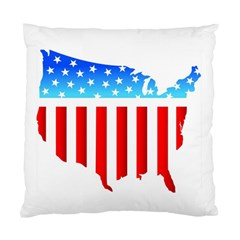 Usa Flag Map Twin Sided Cushion Case by level3101