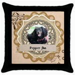 opt 8 - Throw Pillow Case (Black)