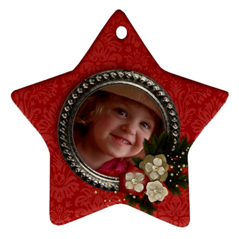 Christmas Flowers  Star Ornament (1 Side) By Mikki   Ornament (star)   Y2kd1bc7gwj9   Www Artscow Com Front