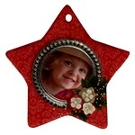 Christmas Flowers- star ornament (1 side) - Ornament (Star)