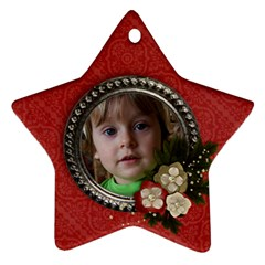 Christmas Flowers  Star Ornament (2 Sides) By Mikki   Star Ornament (two Sides)   M0kog7ppy9rj   Www Artscow Com Front