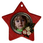 Christmas Flowers- star ornament (2 sides) - Star Ornament (Two Sides)