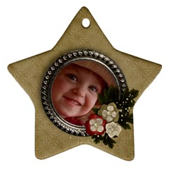 Christmas Flowers  Star Ornament (2 Sides) By Mikki   Star Ornament (two Sides)   M0kog7ppy9rj   Www Artscow Com Back