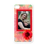 iphone4flowercase - Apple iPhone 4 Case (White)