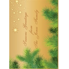 Merry Christmas 5x7 Card 2 By Deborah   Greeting Card 5  X 7    Q2pikj7bhf2s   Www Artscow Com Back Inside