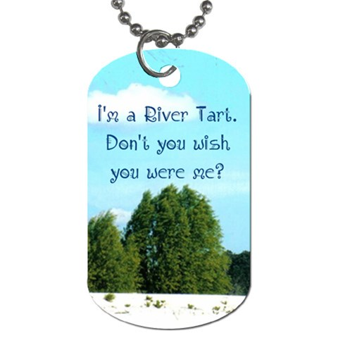 River Tarts By Angie Reon   Dog Tag (one Side)   8ttper3w5e9n   Www Artscow Com Front
